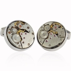 Steampunk Watch Cufflinks (Non-Moving)