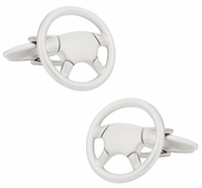 Modern Steering Wheel Cufflinks