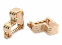 Step Ribbed Rose Gold Cufflinks