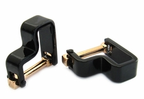 Step Wrap Around Cufflinks Black