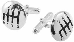 Sterling Silver 6 Speed Gear Shift Cufflinks