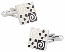 Sterling Silver Art Cufflinks