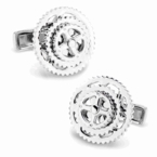 Sterling Silver Bicycle Gears Cufflinks (with movement)