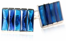 Sterling Silver Blue CZ Cufflinks (DISCONTINUED)