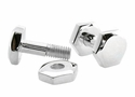 Sterling Silver Functional Nuts & Bolts Cuff Links