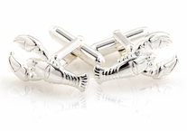 Sterling Silver Lobster Cufflinks