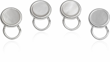 Sterling Silver Plated Clip-on Studs in Mother of Pearl