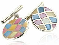 Sterling Silver Rainbow Discs