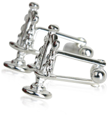 Sterling Silver Scales of Justice Cufflinks