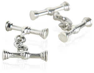 Sterling Silver Stick Cufflinks