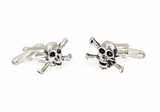 Sterling Skull and Crossbone Cufflinks