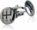 Stick Shift Cufflinks in Gun Metal