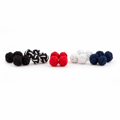 STOCKING STUFFER--Silk Knot Cufflink Set - 5 pairs