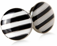 Striped Button Cufflinks