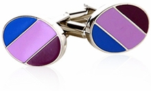 Striped Oval Cufflinks