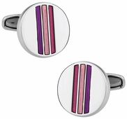 Striped Pink Cufflinks
