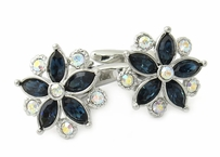 Swarovski Crystal Flower Cufflinks Blue