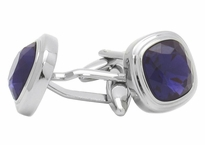 Swarovski Crystal Purple Velvet Cufflinks