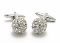 Swarovski Disco Ball Cufflinks