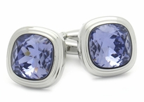 Swarovski Tanzanite Blue Purple Crystal Cufflinks