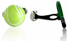 Tennis Racquet & Ball Cufflinks