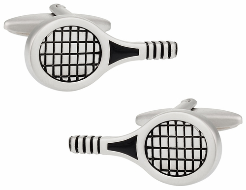 Tennis Racquet Cuff Links