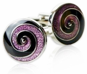 The Swirl in Purple & Black
