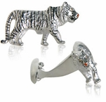 Tiger Cufflinks with Swarovski Eyes