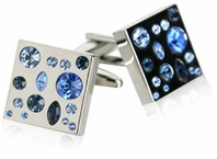 Too Blue Crystal Cufflinks