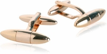 Torpedo Cufflinks in Rose Gold