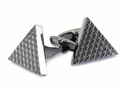 Triangle Cufflinks in Gun Metal