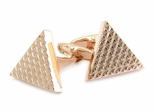 Triangle Cufflinks in Rose Gold