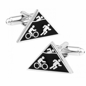Triathlon Triathlete Cufflinks