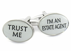 Trust Me Estate Agent Cufflinks