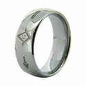 Tungsten Carbide Masonic Ring