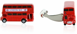 Two Level British Bus Cufflinks