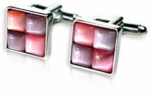 Unique Pink Purple Cufflinks