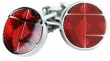 Unique Red Cufflinks