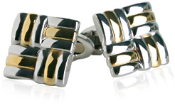 Unique Silver and Gold Cufflinks