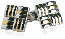 Unique Silver and Gold Cuff links