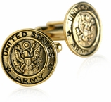 US Army Cufflinks Gold