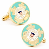 US Coast Guard Cufflinks - Enamel