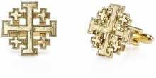 Vatican Gold-Tone Jerusalem Cross Cufflinks