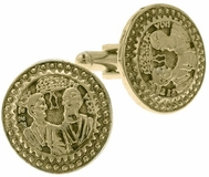 "Vatican Gold-Tone ""Two Apostles"" Cufflinks"
