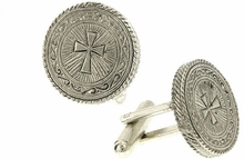 Vatican Silver-Tone Cross Cufflinks