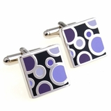 Violet Bubble Cufflinks