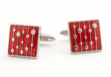 Water Drop Red Cufflinks