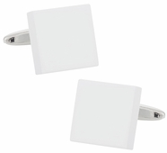 White Square Art Deco Cufflinks