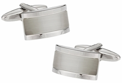 White Glass Cufflinks