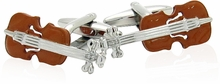 Wood Violin Cufflinks
